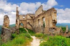 城堡- Povazsky hrad,斯洛伐克废墟  库存图片
