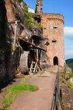 城堡Altdahn 库存照片