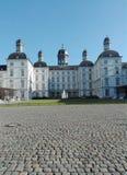 城堡Bensberg在秋天 免版税库存照片