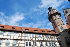 城堡bertholdsburg schleusingen 库存照片