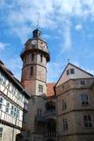 城堡bertholdsburg schleusingen 图库摄影