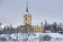 城堡Bip阴沉的12月天 Pavlovsk 库存图片