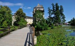 城堡Blatna 免版税库存图片