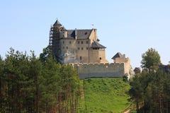 城堡Bobolice 免版税图库摄影