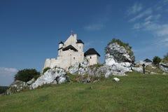 城堡Bobolice 图库摄影