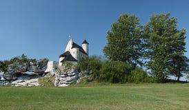 城堡Bobolice 免版税库存图片