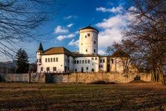 城堡Budatin 免版税库存图片