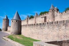 城堡Carcassonne,法国 免版税图库摄影