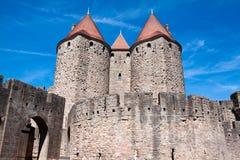 城堡Carcassonne,法国 库存图片