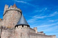城堡Carcassonne,法国 免版税库存图片