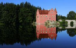 城堡Cervena Lhota 库存图片