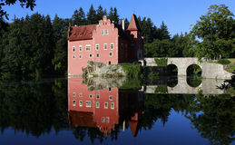城堡Cervena Lhota 库存照片