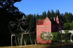 城堡Cervena Lhota 免版税库存图片