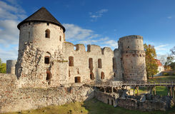 城堡cesis 免版税图库摄影