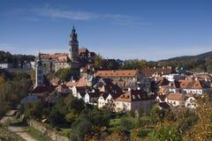 城堡cesky krumlov科教文组织 免版税库存图片