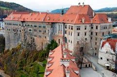 城堡cesky krumlov 免版税图库摄影