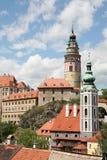 城堡cesky krumlov 免版税库存图片
