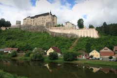 城堡cesky sternberk 库存照片