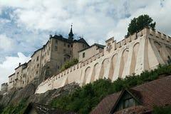 城堡cesky sternberk 免版税库存图片