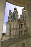 城堡chambord详细资料Loire Valley视图 库存图片
