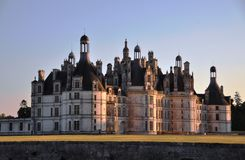 城堡chambord 免版税库存照片