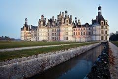 城堡chambord 库存图片
