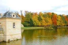 城堡chantilly庭院 图库摄影