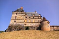 城堡chateau de biron,多尔多涅省法国 免版税库存图片