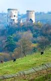 城堡chervonohorod破坏乌克兰 库存照片