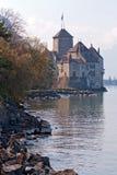 城堡chillon瑞士 库存照片