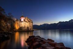 城堡chillon瑞士 库存图片