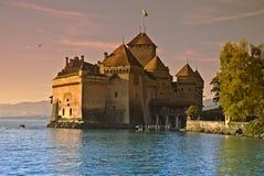 城堡chillon 免版税库存照片