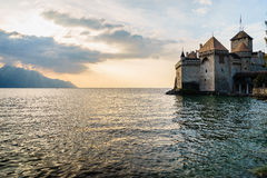 城堡chillon montreux瑞士 免版税库存照片