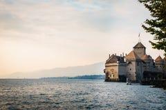 城堡chillon montreux瑞士 图库摄影