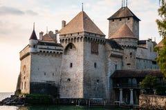 城堡chillon montreux瑞士 库存图片
