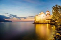 城堡chillon montreux瑞士 免版税图库摄影