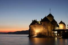 城堡chillon montreux瑞士vaud 免版税库存图片