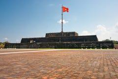 城堡co轻便小床标志颜色塔越南 图库摄影