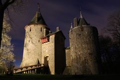 城堡Coch -加的夫威尔士 免版税库存照片