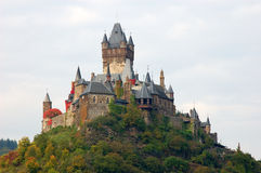城堡cochem德国 免版税库存图片
