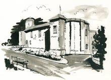 城堡colchester 免版税库存图片