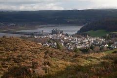 城堡conwy对视图 免版税图库摄影