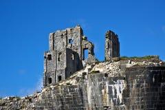 城堡corfe废墟 免版税图库摄影