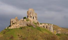 城堡corfe 免版税库存照片