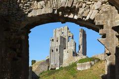 城堡corfe 免版税库存图片