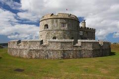 城堡cornwall falmouth pendennis 库存图片