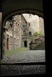 城堡cortyard 免版税库存图片