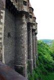 城堡corvin s墙壁 库存照片