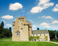 城堡crathes苏格兰 免版税库存图片