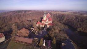 城堡CZOCHA -飞行在城堡 股票视频